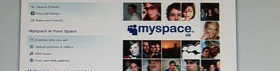 screengrab from Myspace website