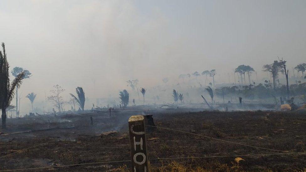 Incendio en zona rural de Machadinho D'Oeste