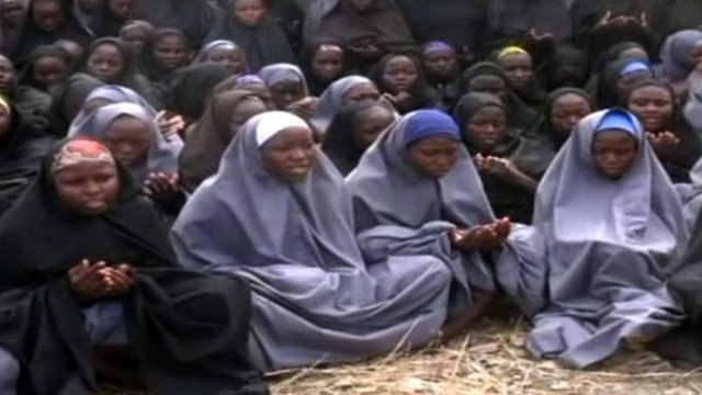 Chibok schoolgirls - file image