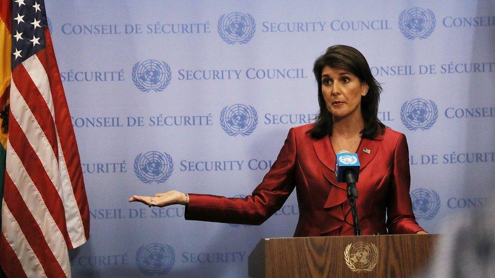 السفيرة الأمريكية لدى الأمم المتحدة، نيكي هايلي