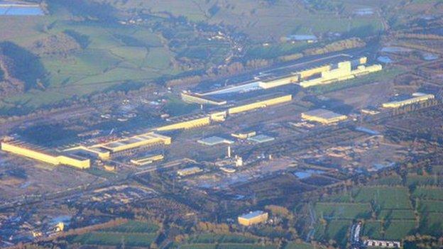 The Tata Steel site in Llanwern,