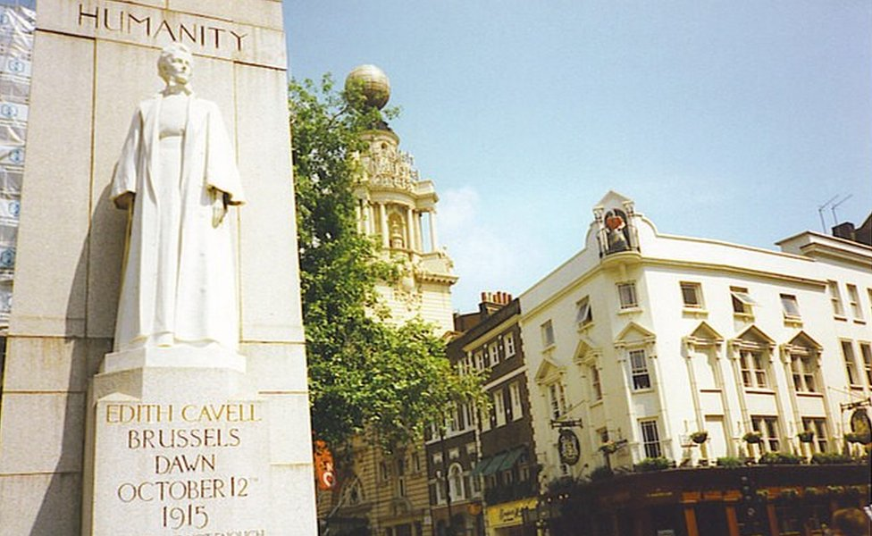 Edith Cavell statue in London