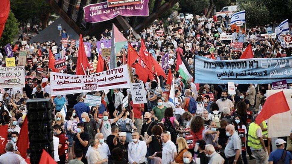 Tel Aviv'de eylem