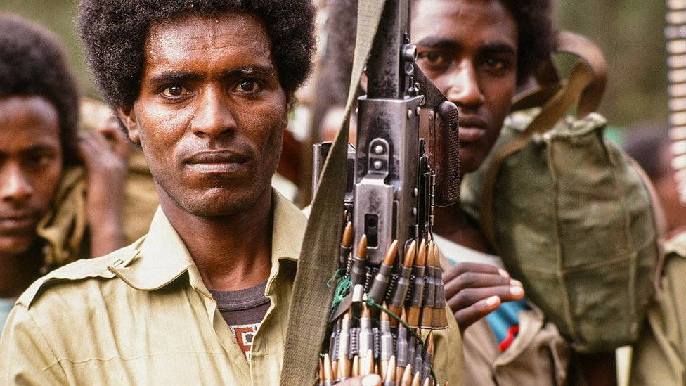 هزم وجرح جنود إثيوبيون بعد سقوط منغيستو هيلا مريام