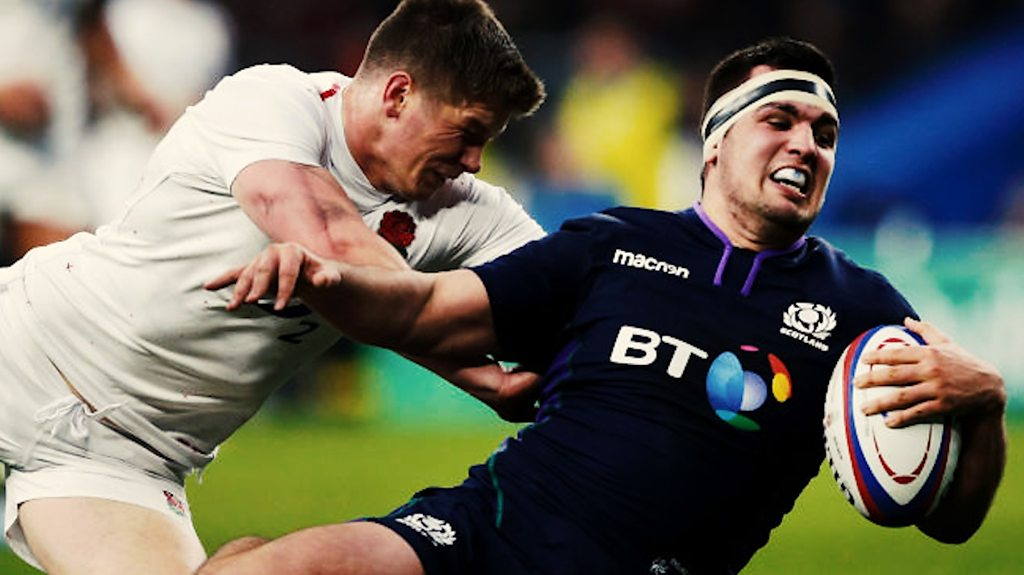Six Nations: England 38-38 Scotland - watch all 11 tries in under a minute