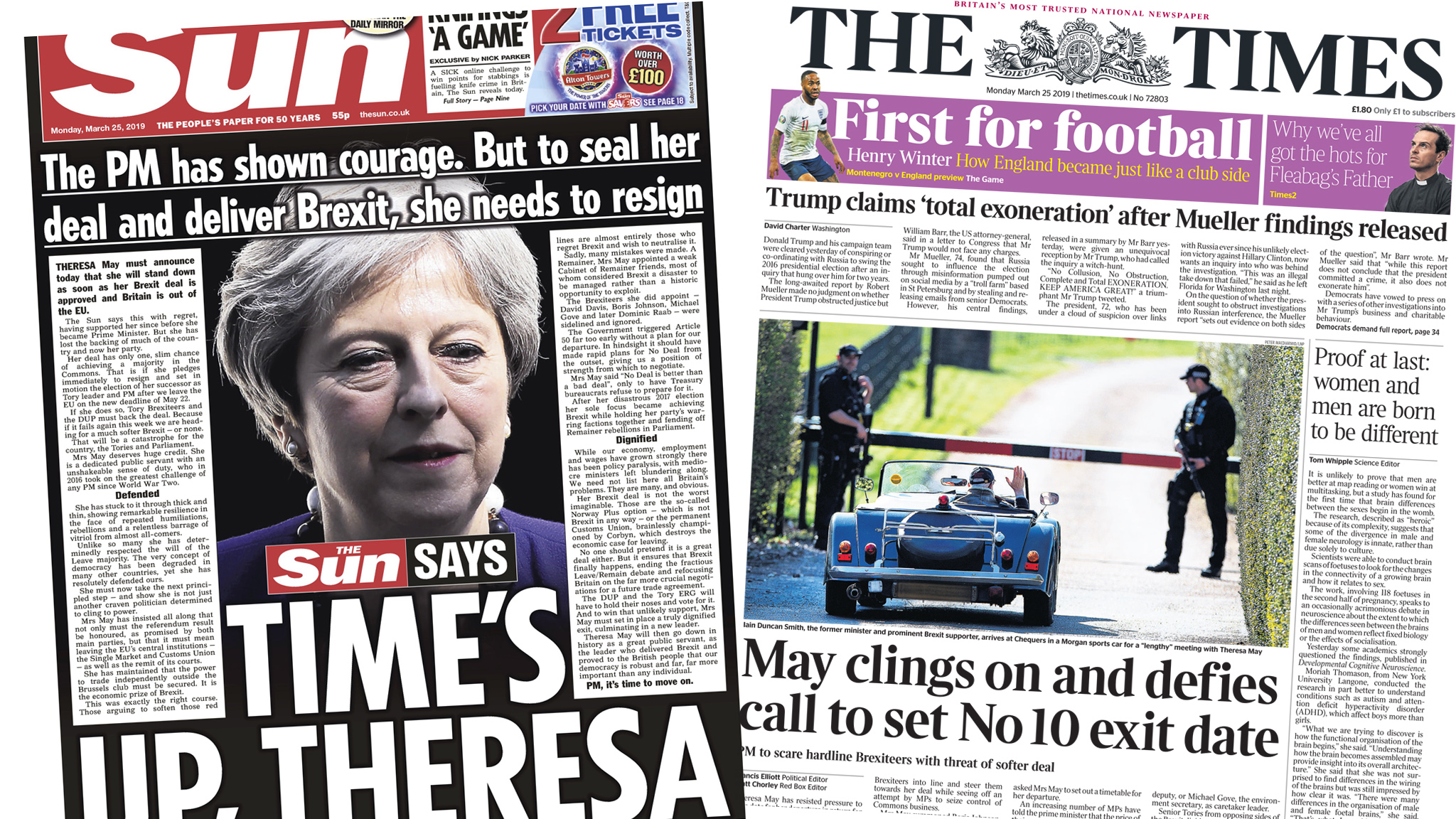 Newspaper headlines: May's premiership and 'children damaged by cannabis'