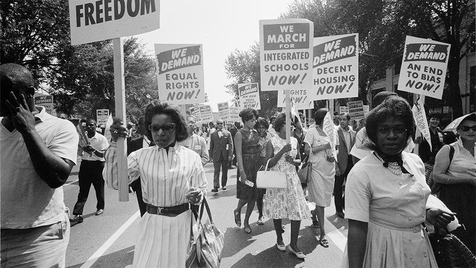 La marcha por los derechos en Washington de 1963