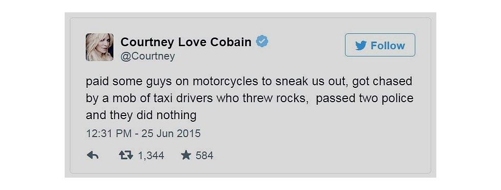 Courtney Love tweet