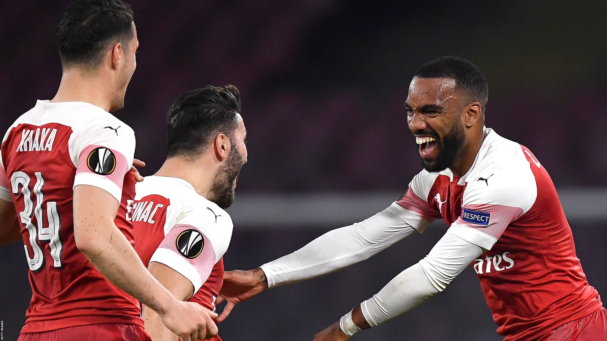 Napoli 0-1 Arsenal: Alexandre Lacazette seals Europa League semi-final spot