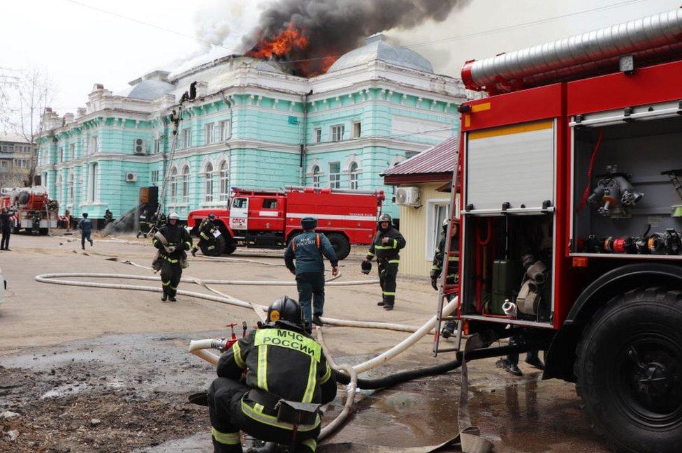 Incendio en el hospital de Blagoveshchensk, 2 de abril de 2021