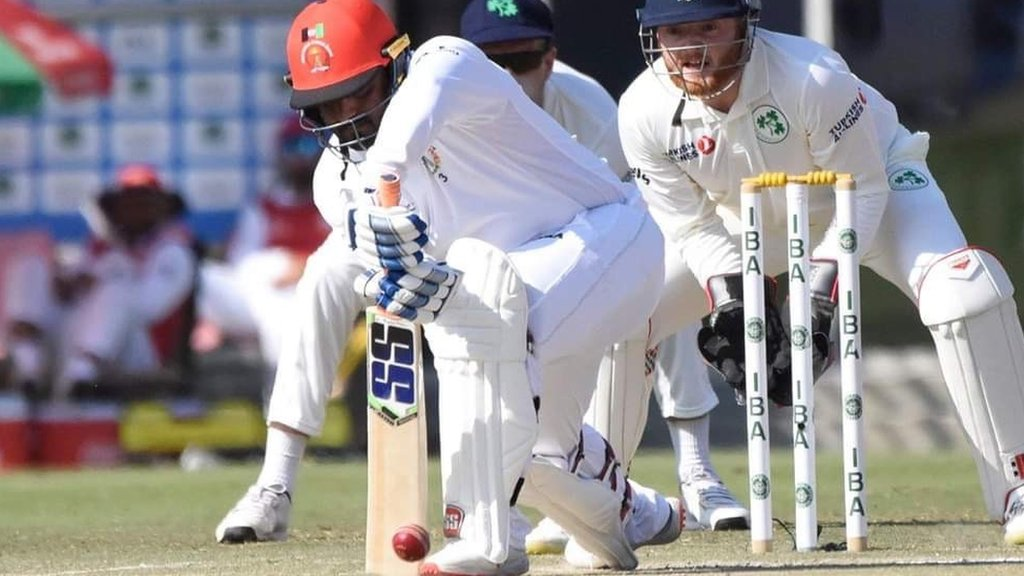Ireland struggle against Afghanistan in Test