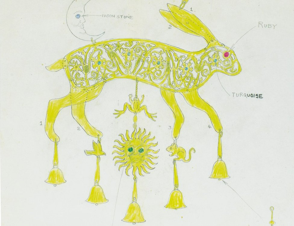 Golden hare sketch