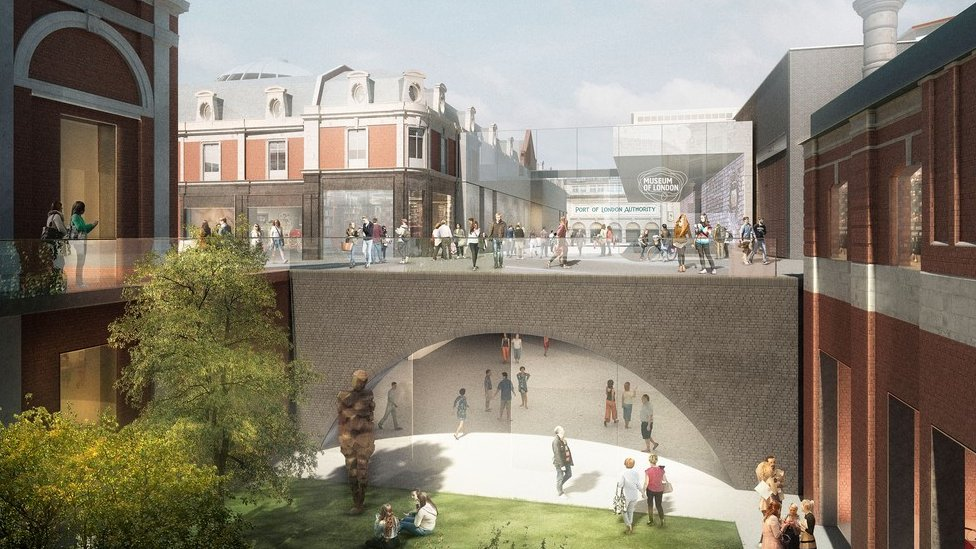 Artist's impression of the new Museum of London