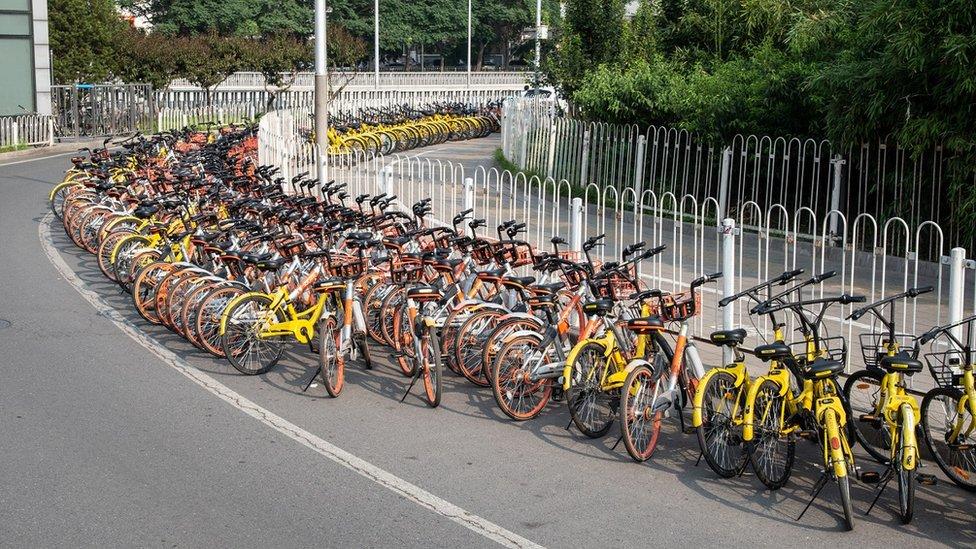 Çin'de yüzlerce kentteki bisiklet paylaşım hizmetlerinde toplam 10 milyon bisiklet bulunuyor