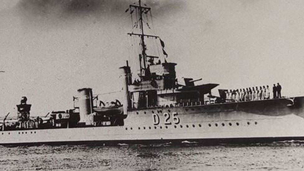 HMS Warwick World War Two sinking remembered 75 years on