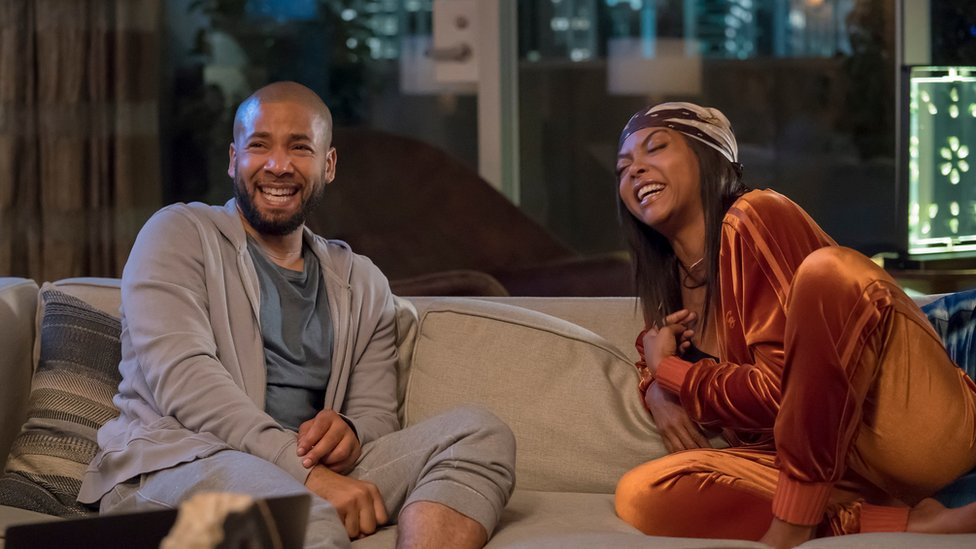 Jussie Smollett and Taraji P Henson in Empire