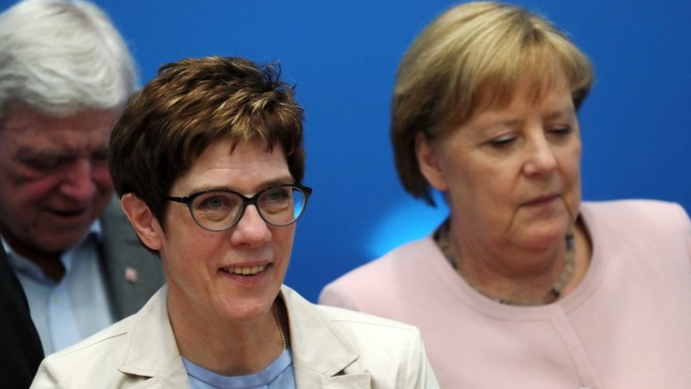 Angela Merkel and Annegret Kramp-Karrenbauer