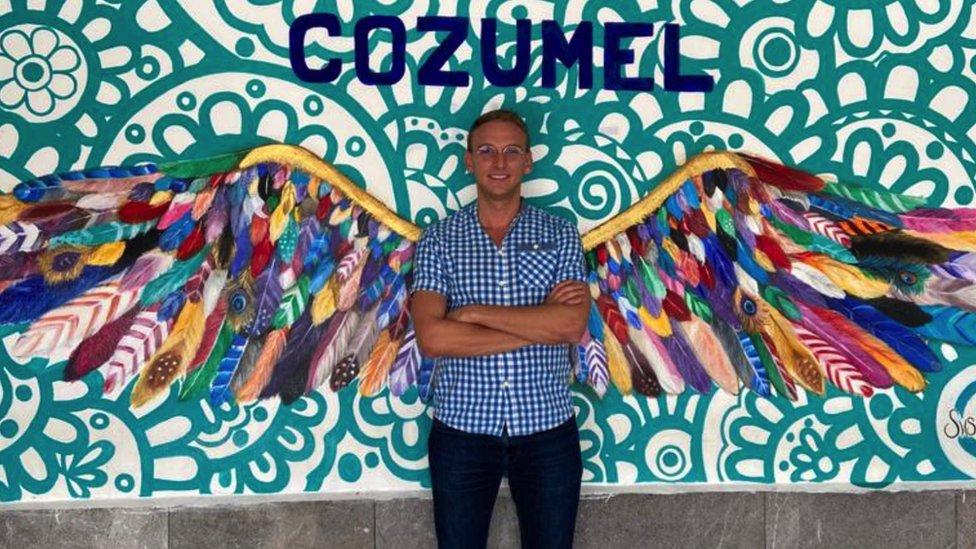 Pierre en Cozumel