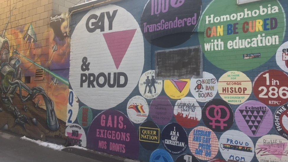 Street art in Toronto's Gay Village