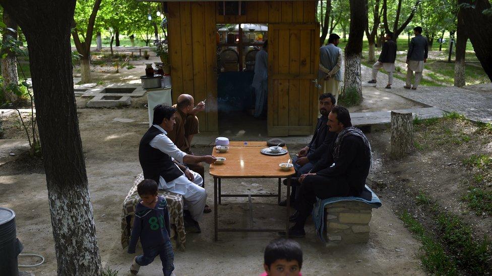 Kabul's historic Bagh-e Babur gardens remain popular with picnickers, despite the security threats