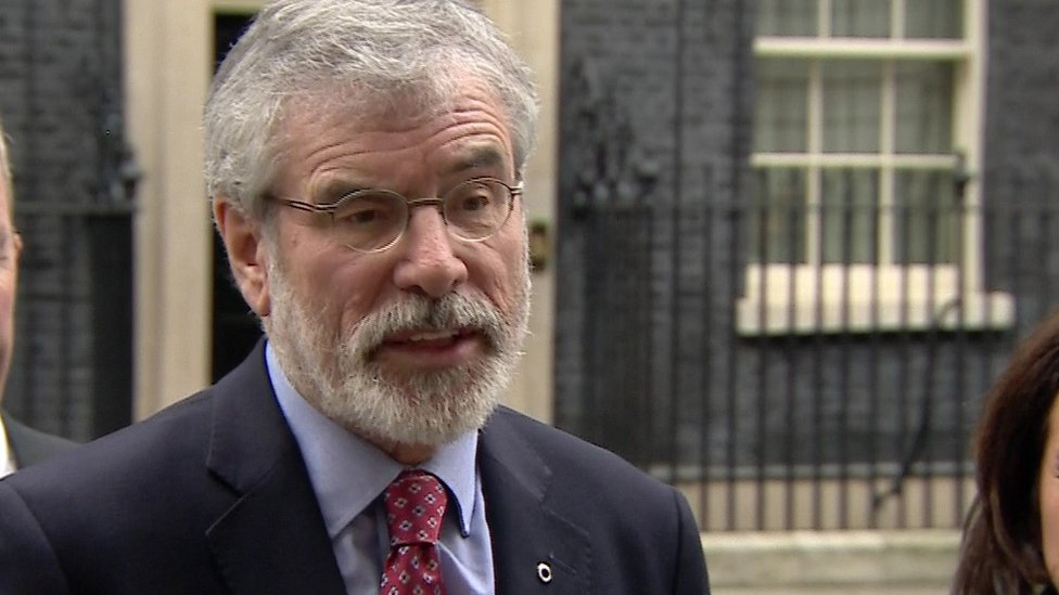 Gerry Adams held talks with Theresa May on Tuesday