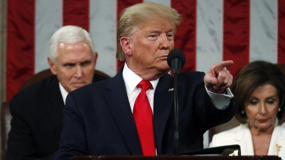 Donald Trump en el discurso del Estado de la Unión