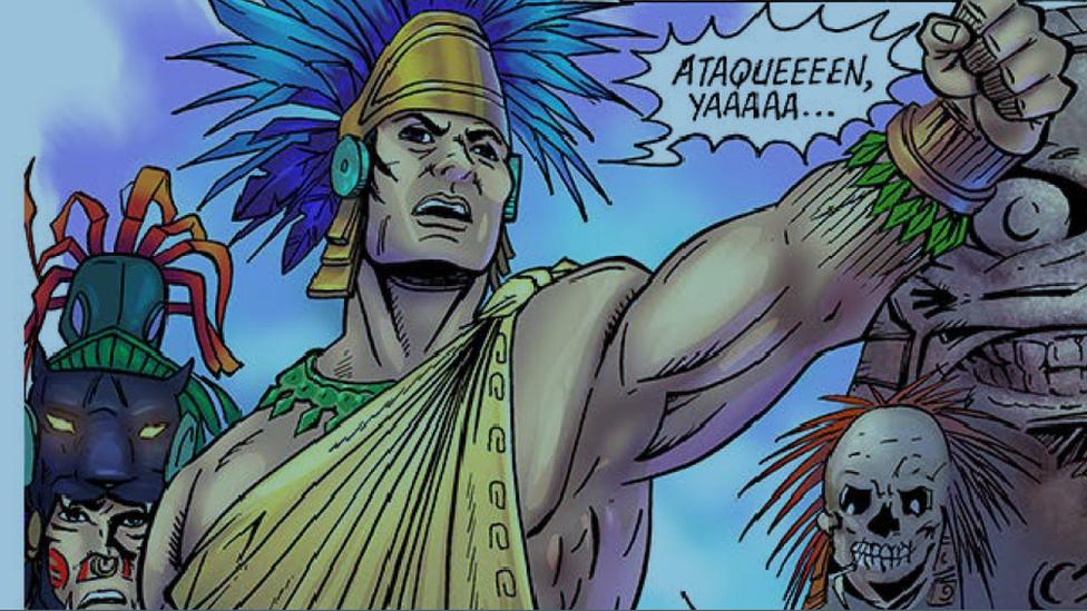 Cuitláhuac, según un cómic recientemente publicado para conmemorar los 500 años de su muerte.