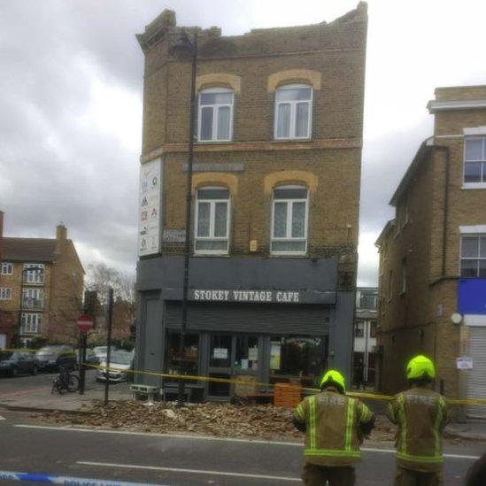 Stoke Newington High Street rubble