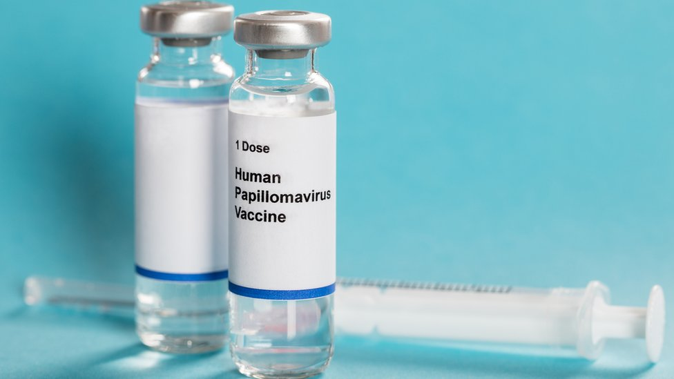 Frascos con la vacuna contra el VPH.