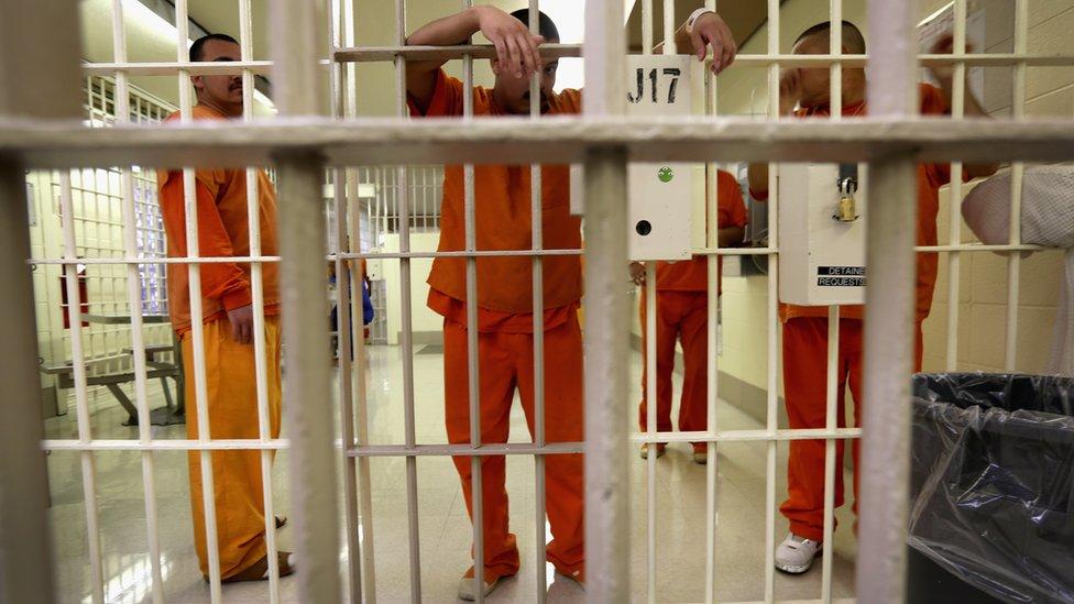 Prisioneros en una cárcel de California