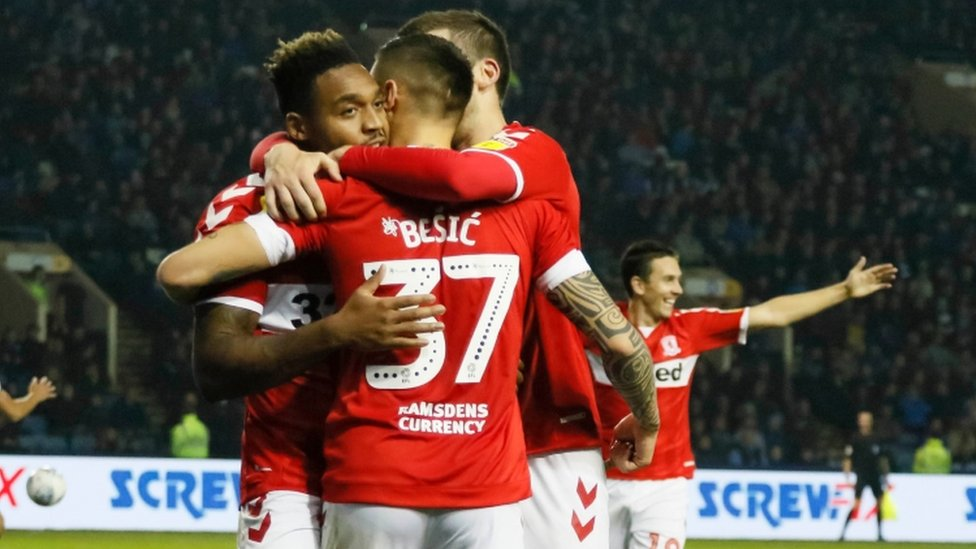 Middlesbrough win at Sheff Wed to go top of Championship