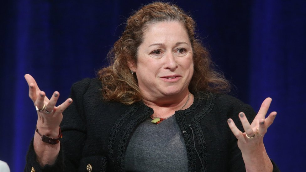 Abigail Disney speaks onstage at the Langham Hotel, Pasadena, California, 18 January, 2016.