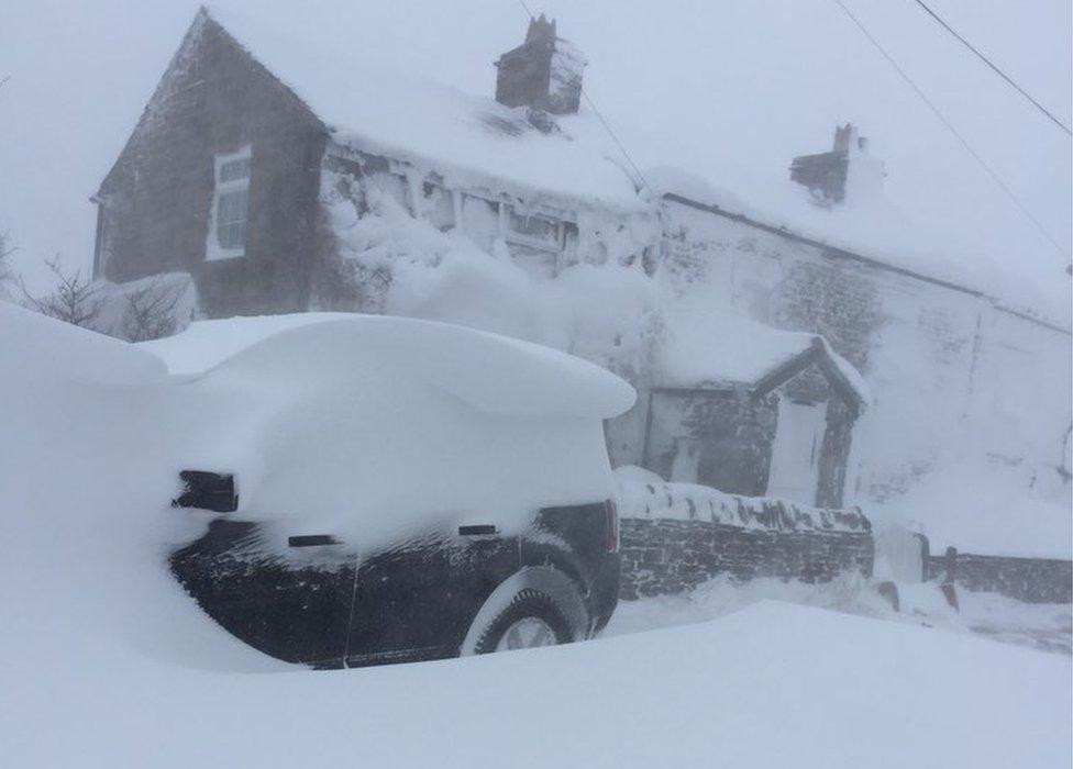 Nenthead in snow