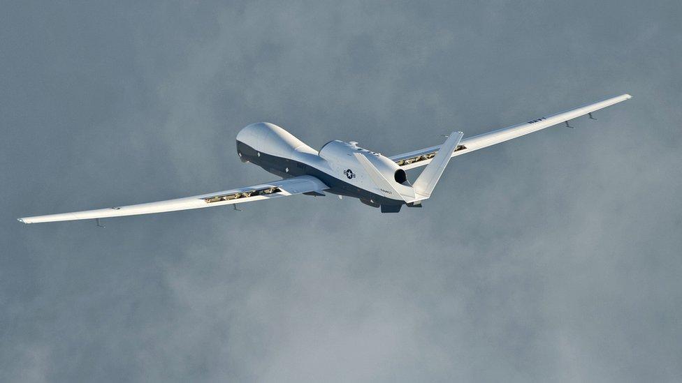 صورة لطائرة امريكية من طراز غلوبال هوك