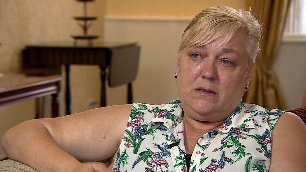 Sue Smith talking to the BBC