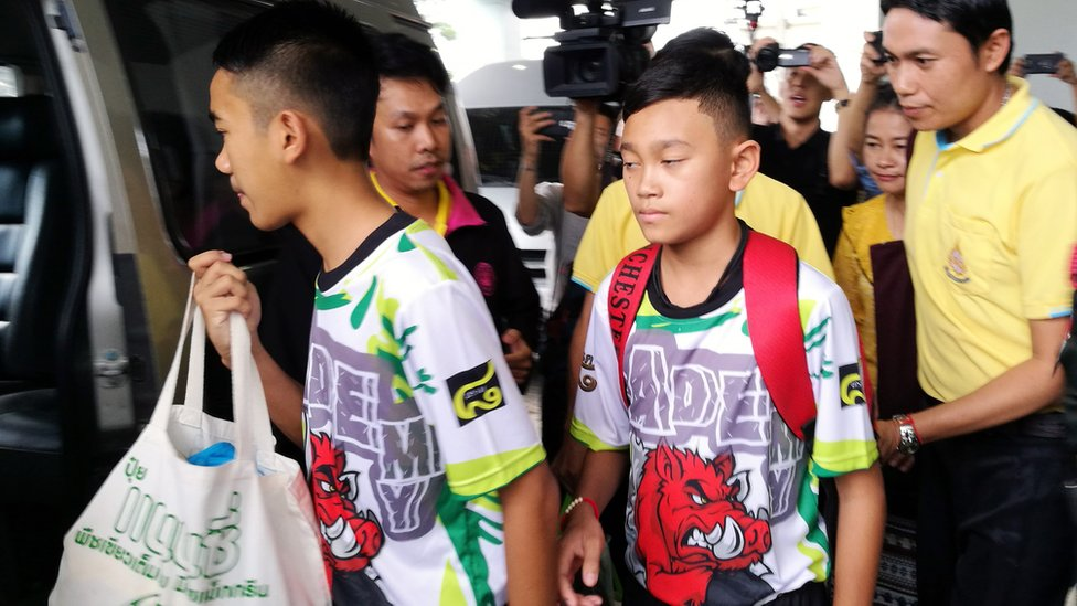 Thai cave boys to return to 'normal life' after meeting media