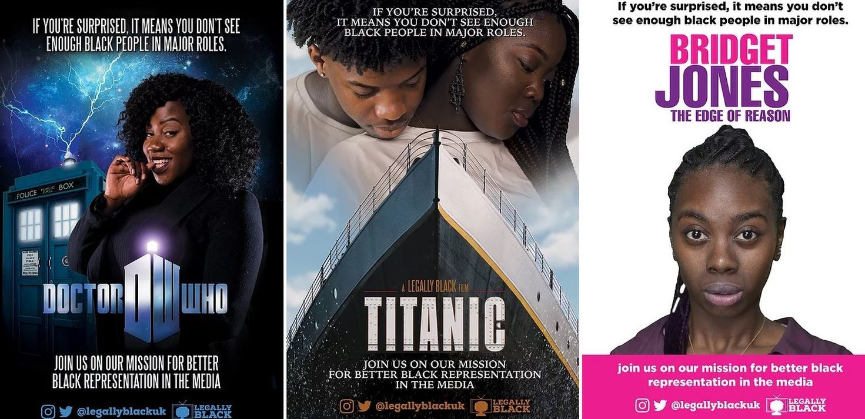 Dr WHo, Titanic and Bridget Jones poster