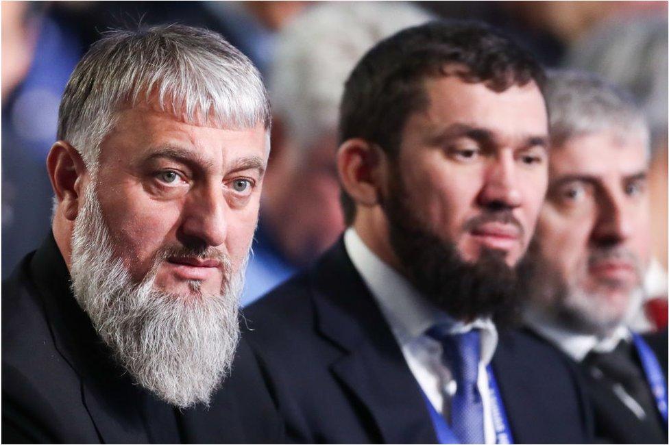 Adam Delimkhanov (izq.) y Magomed Daudov.
