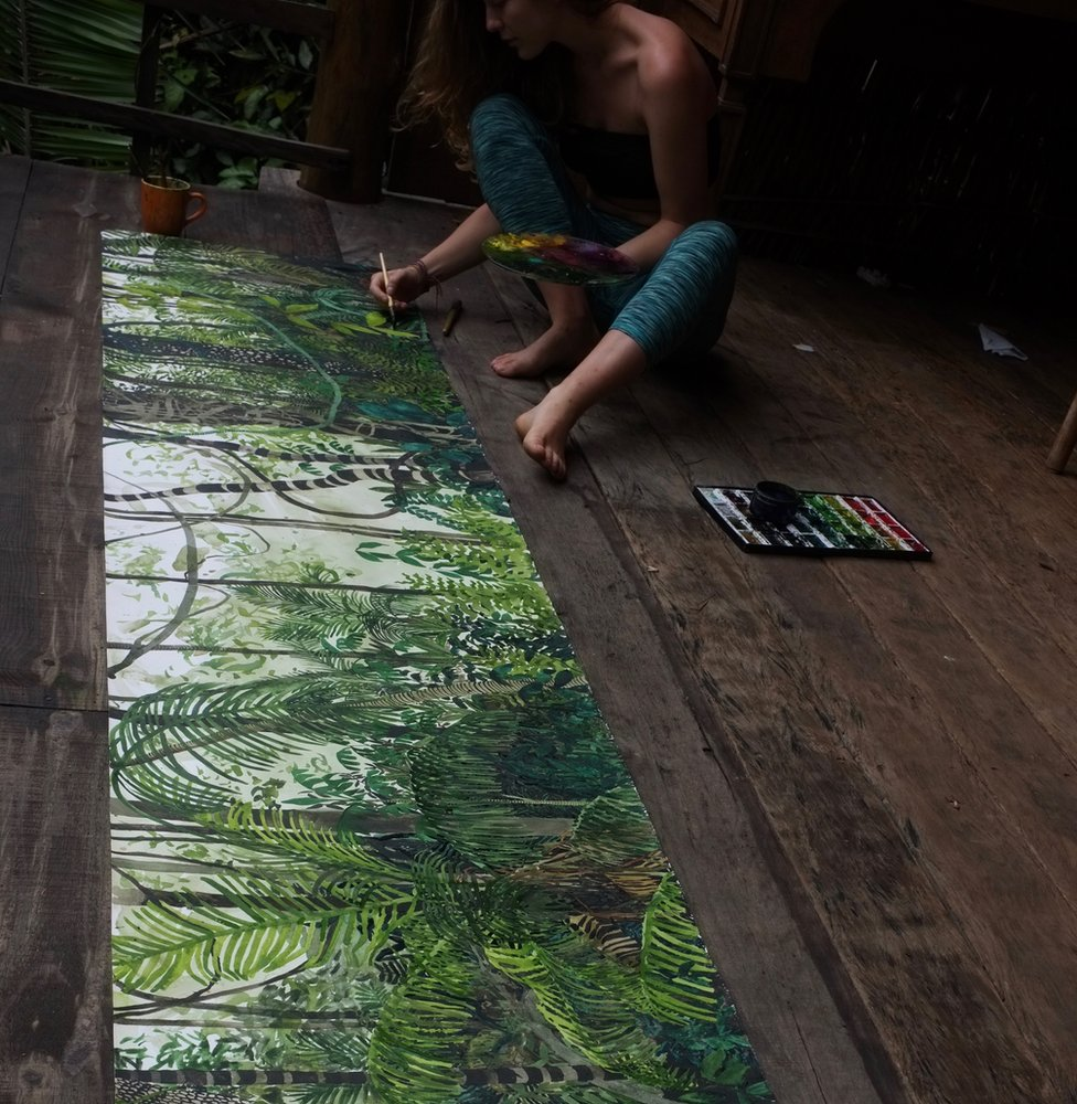 Jelly Green painting in Brazil