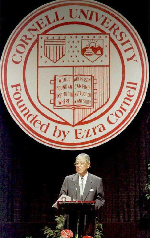 1995年,李登輝以私人名義過境美國赴母校康乃爾大學演講,成為著名事件。