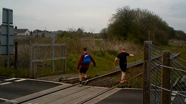 Rail trespassers