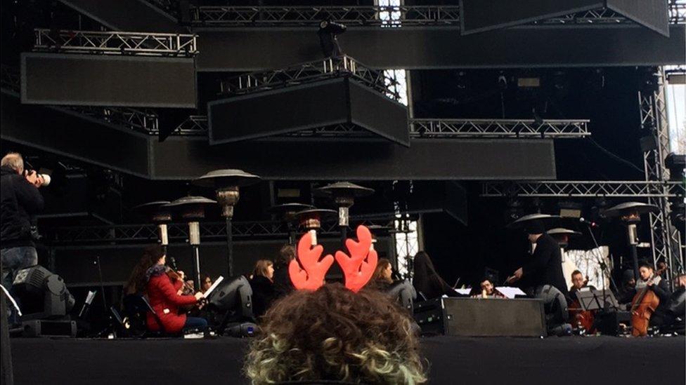 Koncert klasične muzike na platou ispred Narodne Skupštine, Beograd, 1.1.2019.