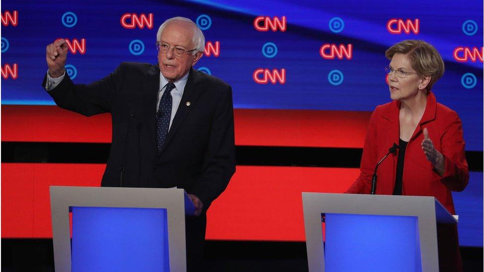 Sanders y Warren