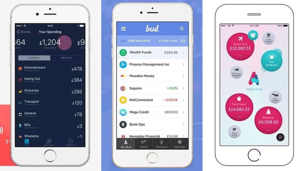 Mondo, Bud and Atom Bank apps