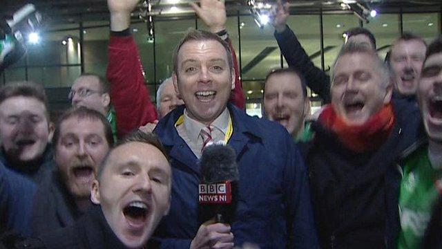 BBC Sport presenter Thomas Kane at The Aviva Stadium