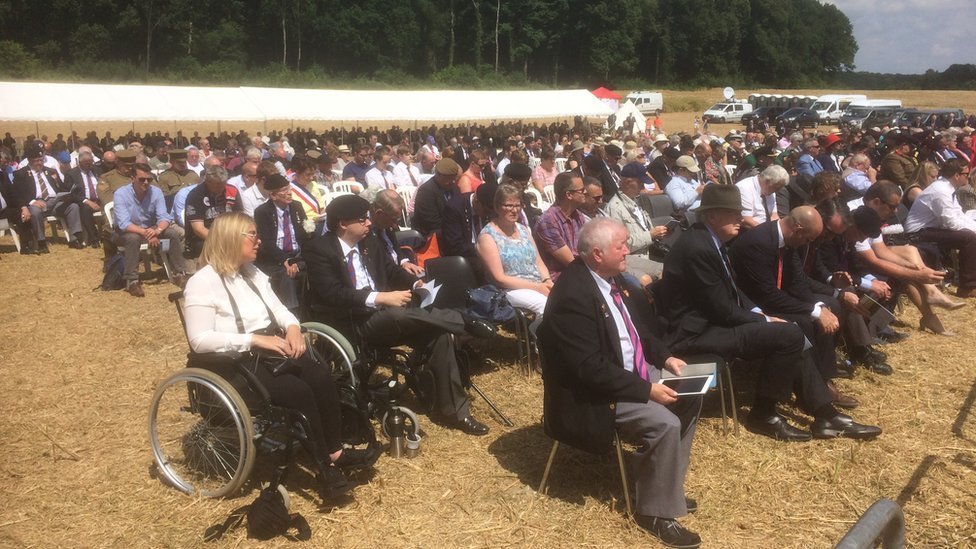 A crowd at Mametz Wood service