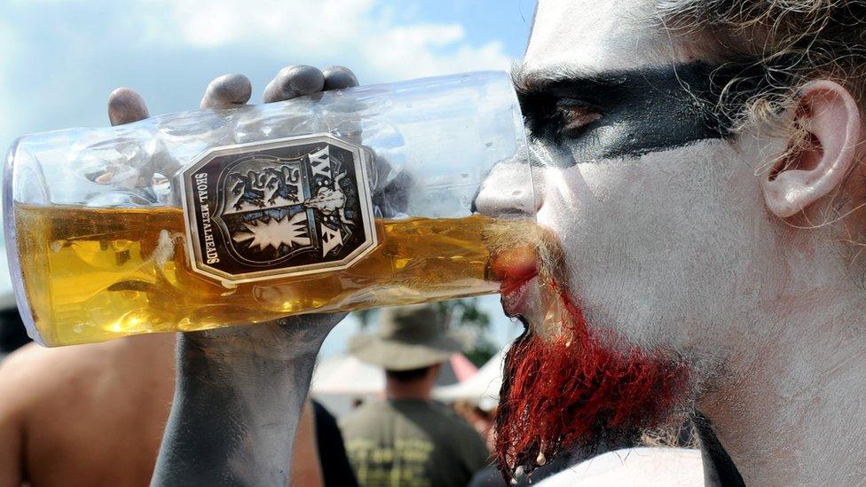 German rock festival gets beer pipeline