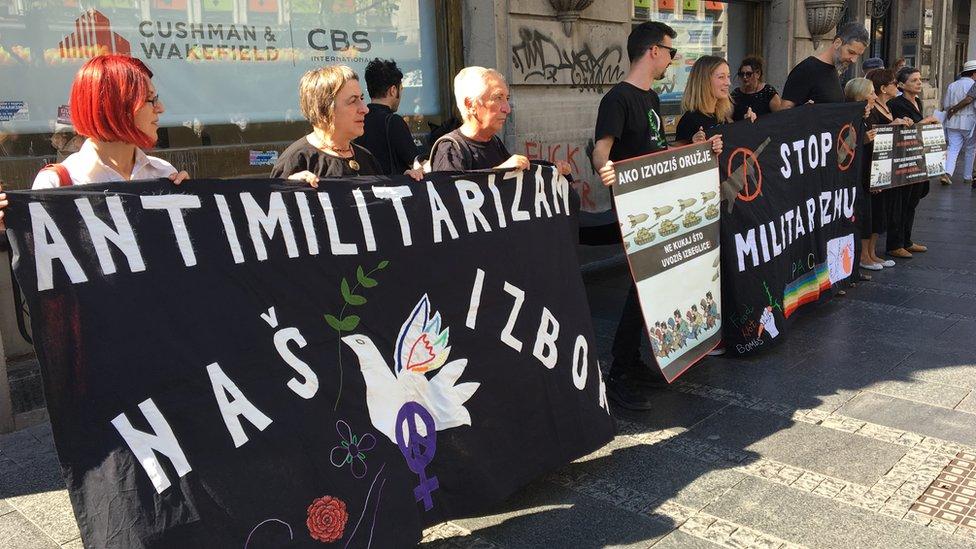 Protest Žena u crnom u Knez Mihailovoj