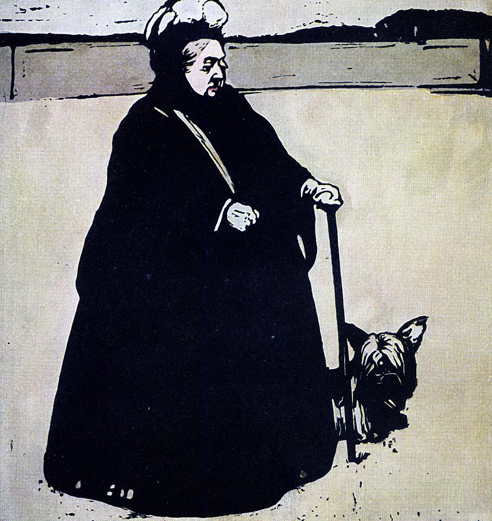 Reina Victoria vestida de negro