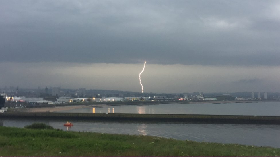 Lightning in Aberdeen